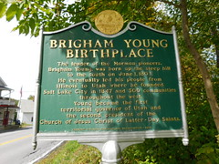 Brigham Young Birthplace Historic Marker