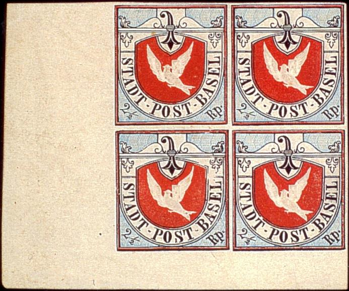 Basel Dove unused block of four from 2001 auction by E Luder-Edelmann & Co. in Rojalis.