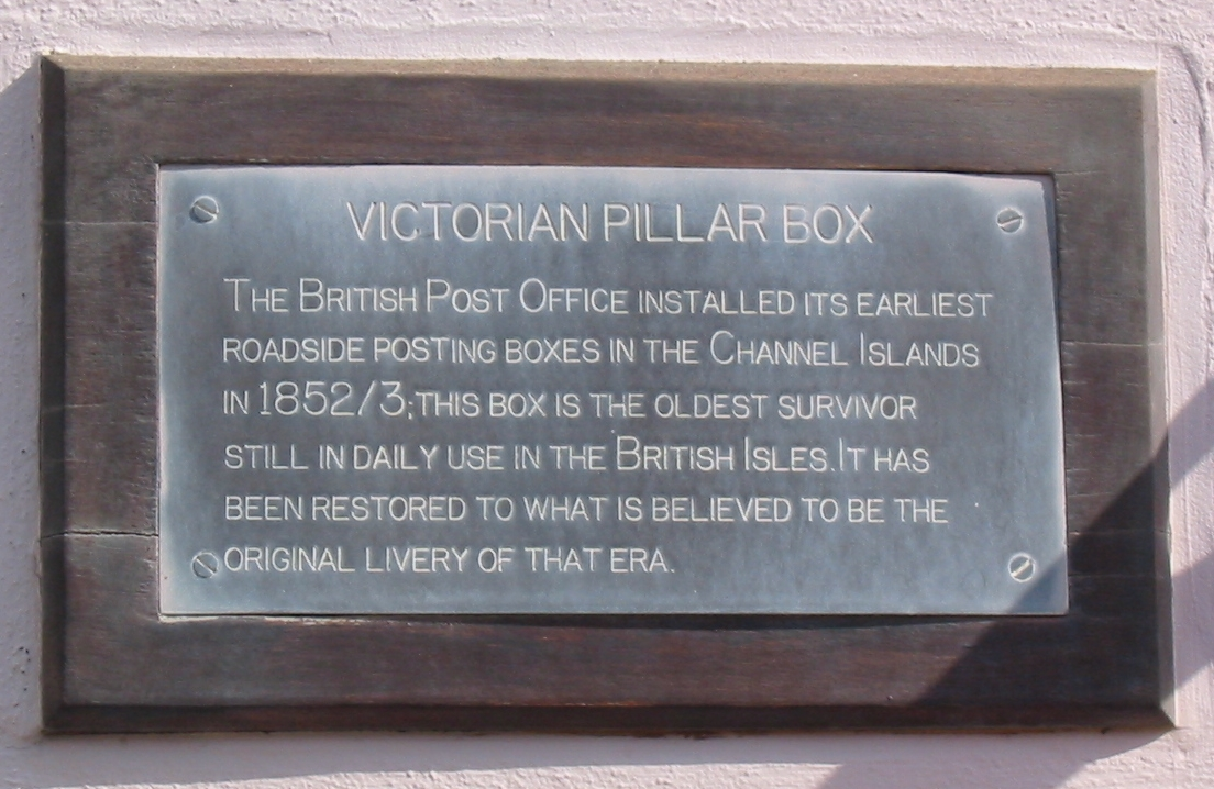 Victorian post box in Guernsey, claimed to be oldest surviving in British Isles