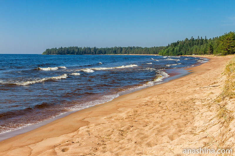Ладожское озеро, Восточное Приладожье, Карелия, пляж