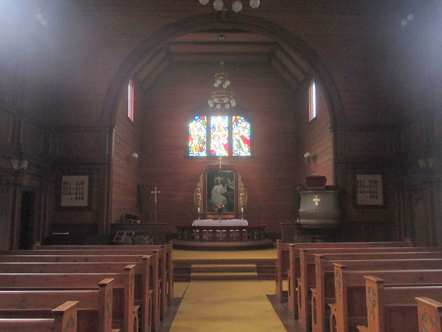 Interior of Olden Church, Olden, Norway
