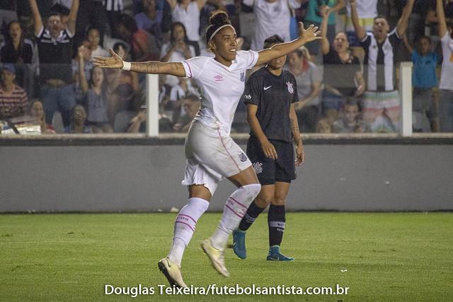 Santos 1 x 0 Santos. Jogo válido pelas finais do Campeonato Paulista de Futebol Feminino de 2018, disputado no dia 2 de outubro, na Vila Belmiro