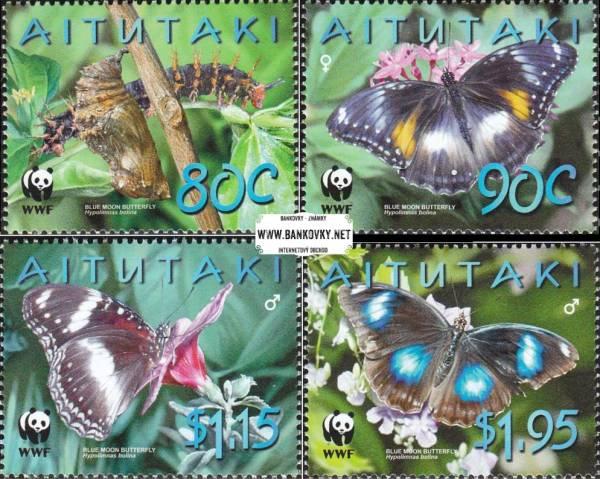 Známky Aitutaki 2008 Motýle