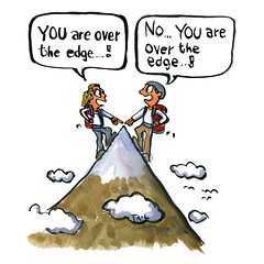 illustration-over-the-edge-discussion-couple-hikers-cartoon-by-frits-ahlefeldt