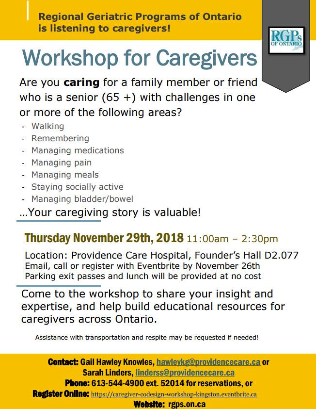 Caregiver Co-design Workshop