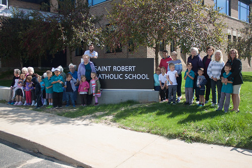 St. Robert students host senior neighbors for intergenerational relay