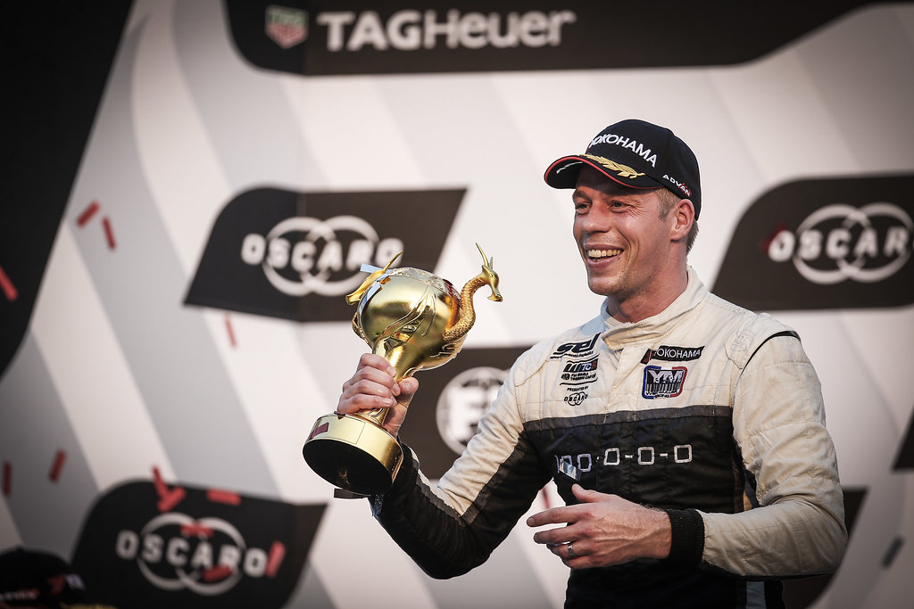 BJORK Thed, (swe), Hyundai i30 N TCR team Yvan Muller Racing, portrait, winner race 3 during the 2018 FIA WTCR World Touring Car cup of China, at Ningbo  from September 28 to 30 - Photo Jean Michel Le Meur / DPPI