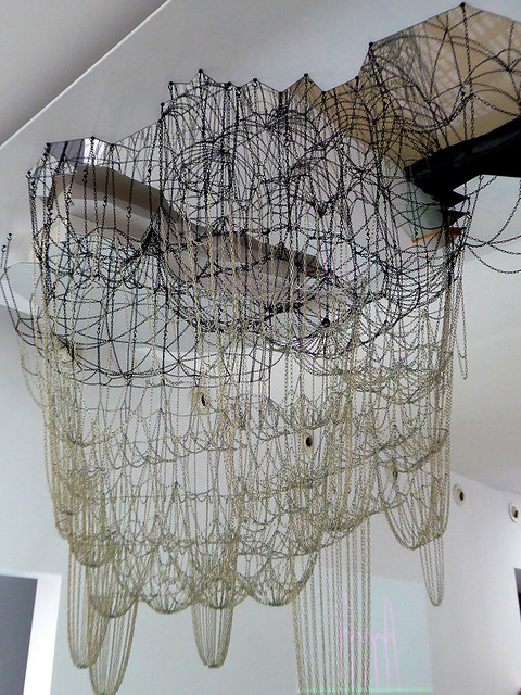 The hanging model typical of Antoni Gaudí i Cornet's work which incorporated equilibrium methods of structural analysis