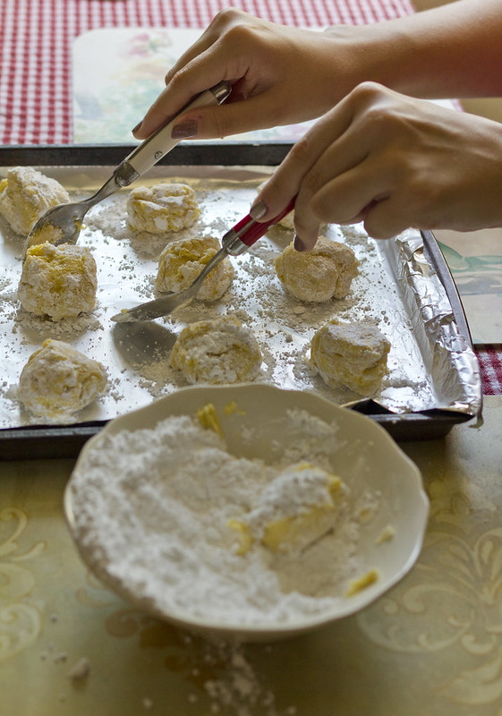 Amber making Lemon Cookies