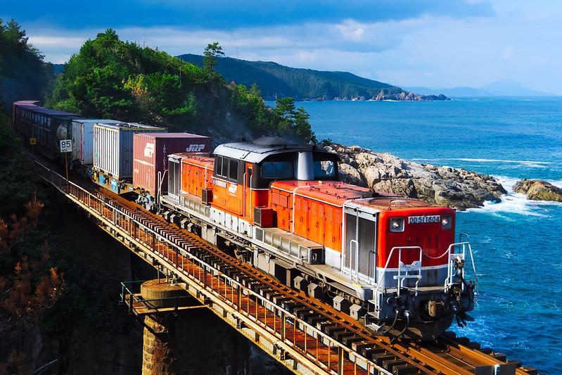 DD51 1804 Freight train in Sanin line