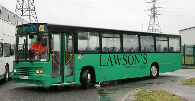 Lawson's of Corby K760 DAO at the Crucible Rd depot, Phoenix Parkway, Corby.