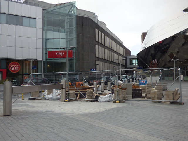Location of a new sculpture that will be outside of Birmingham New Street Station
