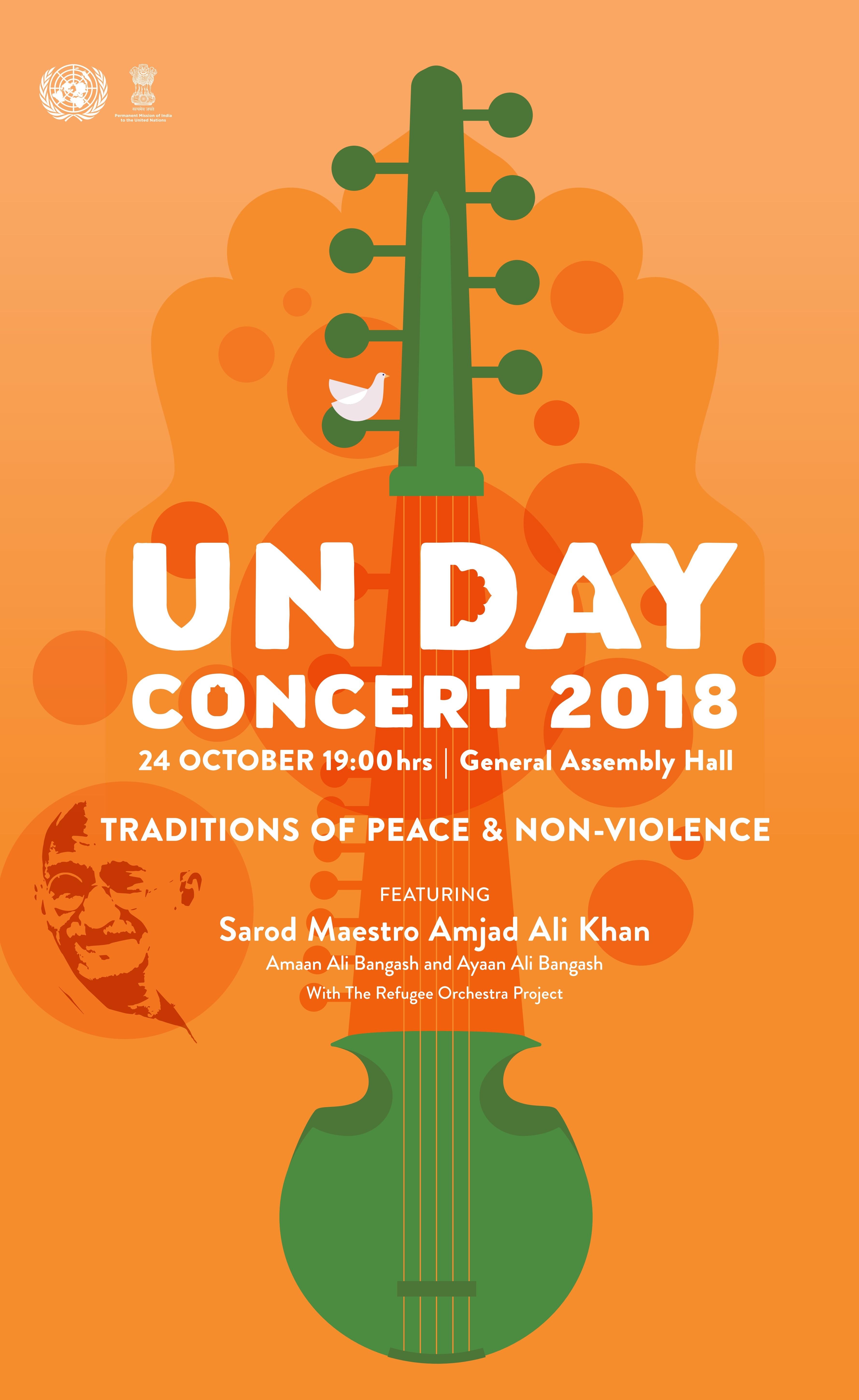 UN Day Concert 2018 poster
