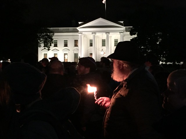 A candle at the White House