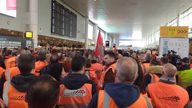 Solidariteit met personeel Aviapartner