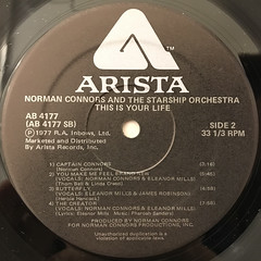 NORMAN CONNORS:THIS IS YOUR LIFE(LABEL SIDE-B)