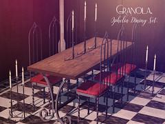 Granola. Ophelia Dining Set.