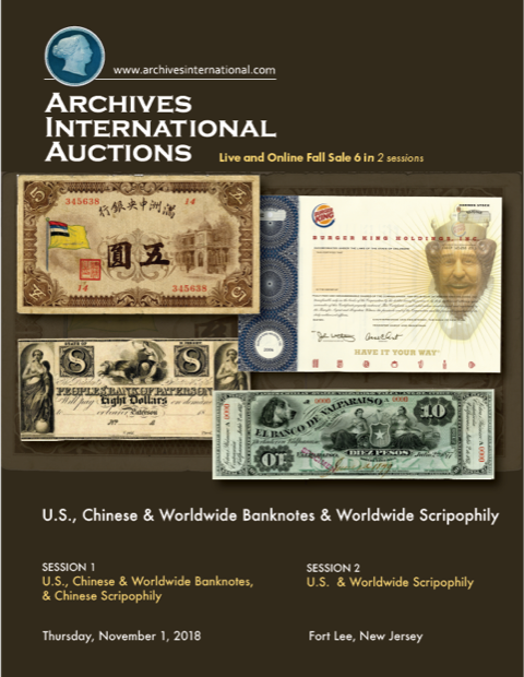 Archives International 2018-11 sale cover front