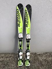 Dětské lyže Blizzard s vázáním, 110cm, nové, zelen - titulní fotka