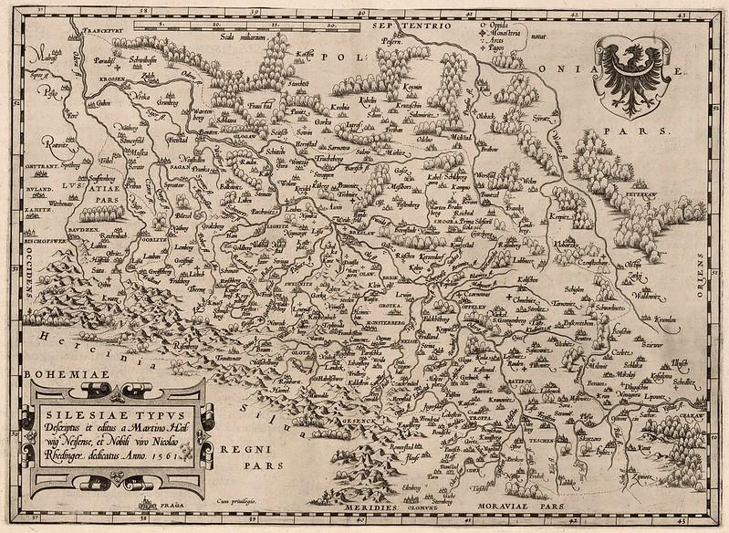 Abraham Ortelius - Silesiae (1561)