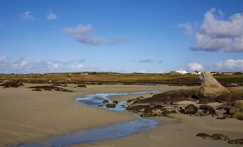The Strand & Omey Island, near Claddaghduff Ierland 5 October 2018