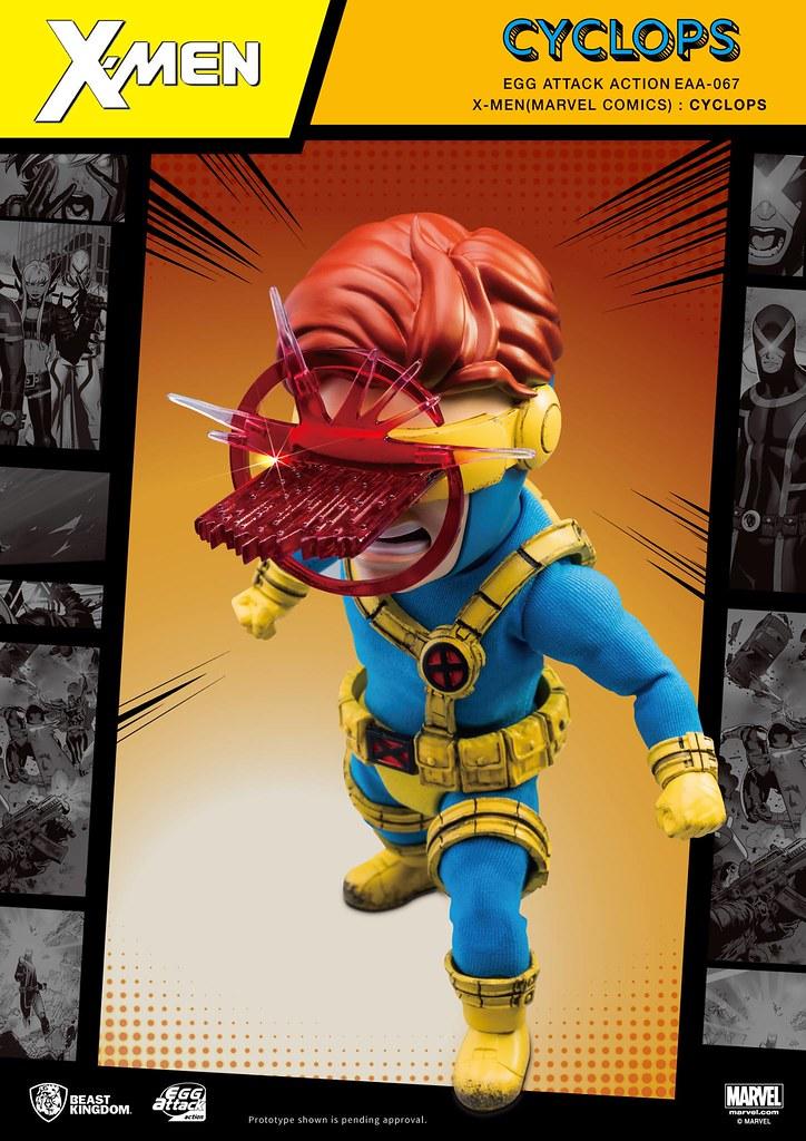 可以組合的雷射特效太酷啦~! 野獸國 Egg Attack Action 系列【X戰警 獨眼龍】X-MEN (Marvel Comics): Cyclops EAA-067