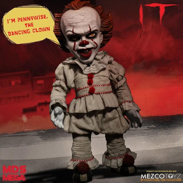 MEZCO《牠(2017)》潘尼懷斯 Pennywise 15吋巨大玩偶 還會說話嚇人喔~!