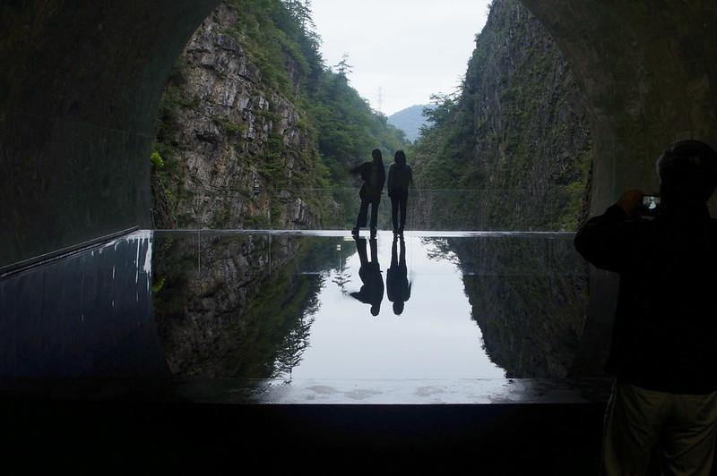 水鏡に映る二人_201810