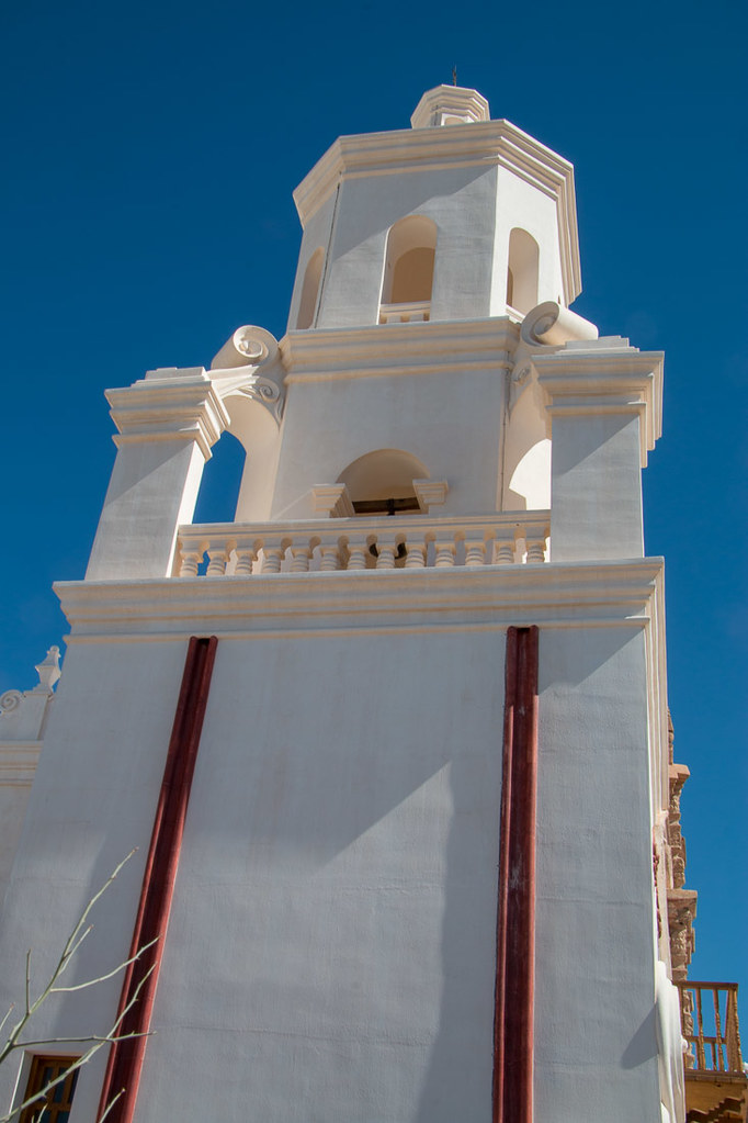 Blue skies at Mission San Xavier del Bac