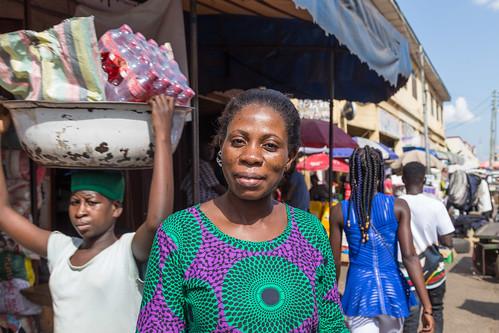 ghana kumasi market people portret ashanti gh