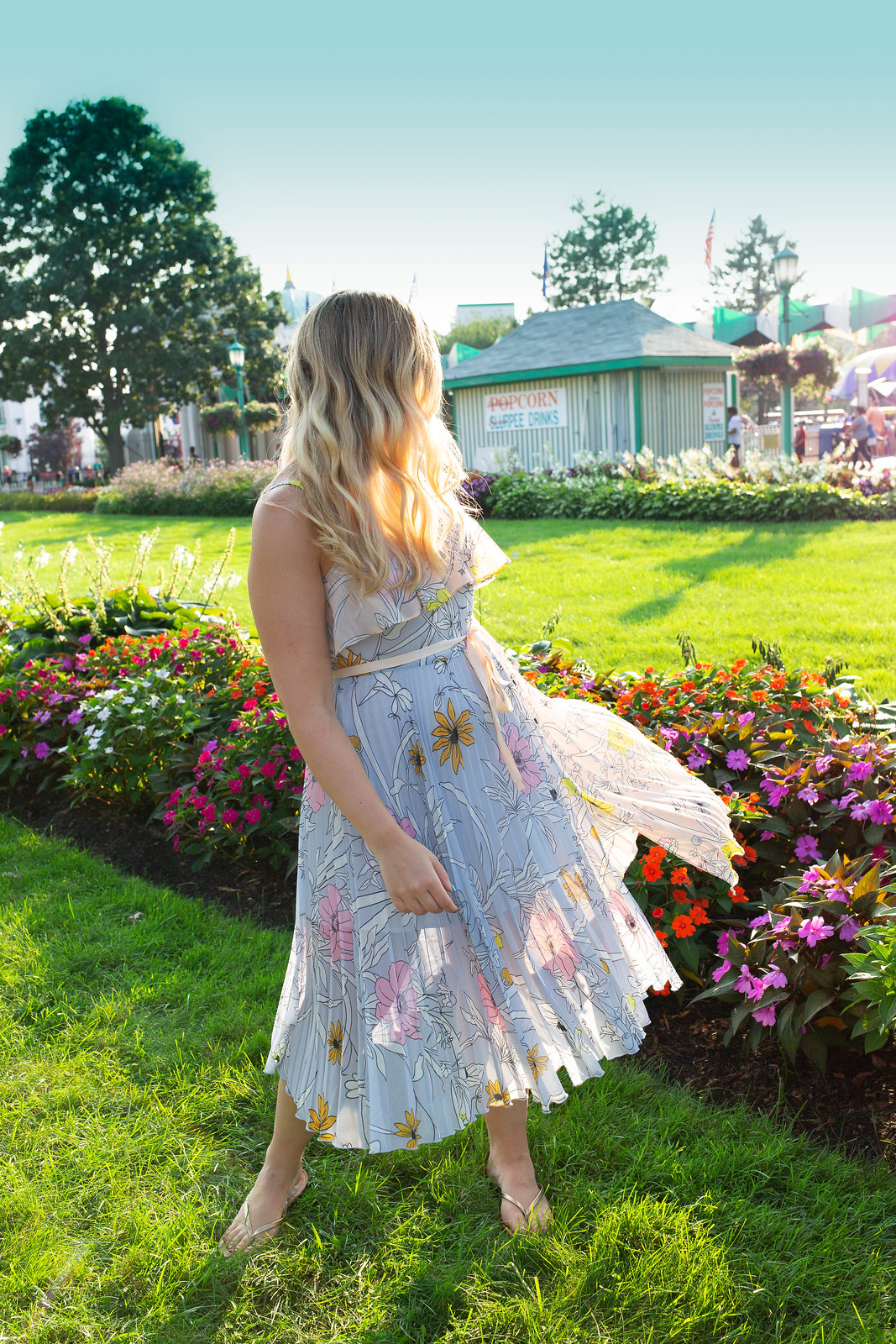 Topshop Pastel Pleated Midi Dress Nordstrom Westchester Playland Park Amusement Park Rye NY Currently Obsessed with Pleated Dresses