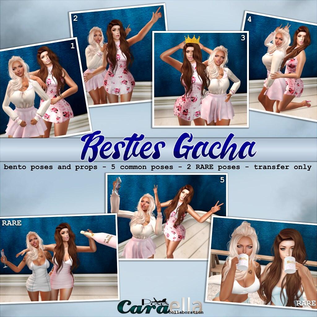 Cara & Ella Besties Gacha Pose Set