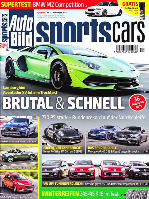 Auto Bild Sportscars 11/2018