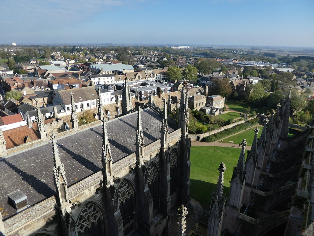 View from the roof of Ely Cathedral