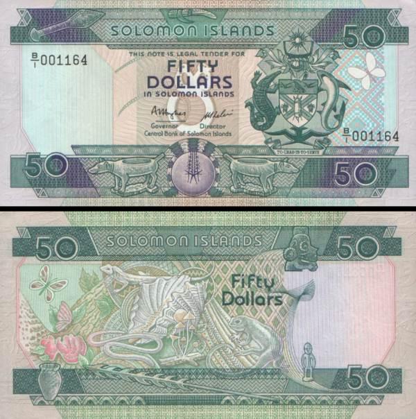 50 Dolárov Šalamúnove ostrovy 1986, P17a