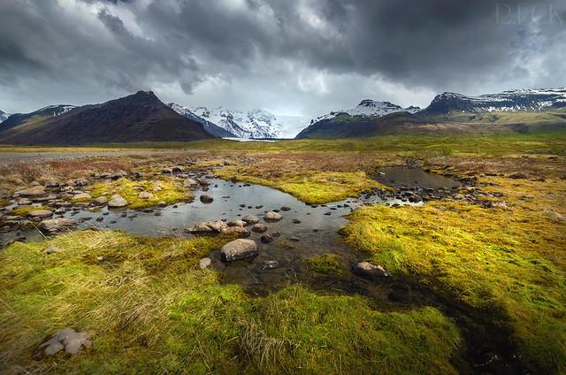 Vatnajökull Streams Iceland