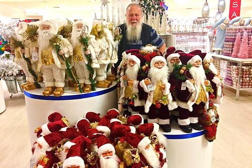 Paul Weaver and Santas at Myer's 3 Oct 2018