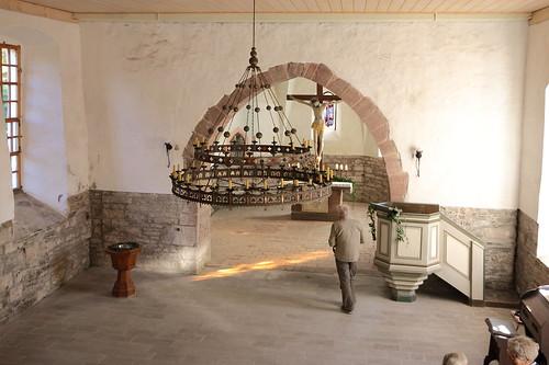 Questenberg, Kirche St. Mariä Geburt, barocker Kanzelkorb