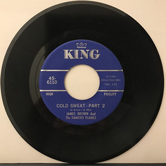 JAMES BROWN AND THE FAMOUS FLAMES:COLD SWEAT(RECORD SIDE-B)