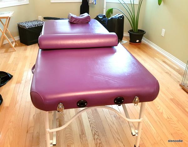 purple massage bed