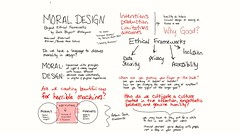 Moral Design: Thinking Beyond Ethical Frameworks by Zack Bryant @zbryant #eduiconf @edUiConf #libraryux #ux #sketchnotes #uxethics #ethics #morality