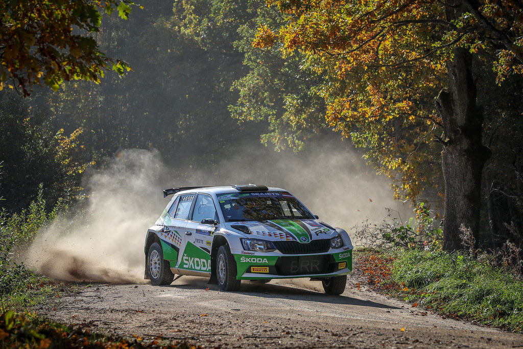02 KREIM Fabian, (DEU), Frank CHRISTIAN, (DEU), Skoda Auto Deutschland, Skoda Fabia R5, Action during the 2018 European Rally Championship ERC Liepaja rally,  from october 12 to 14, at Liepaja, Lettonie - Photo Alexandre Guillaumot / DPPI