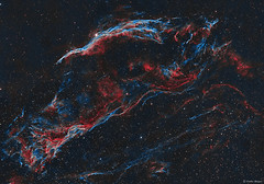 The Western Veil & Pickering's Triangle Supernova Remnant