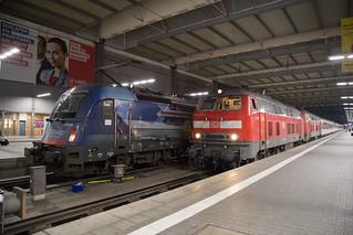 ÖBB 190 019 + DB 218 403 München Hbf
