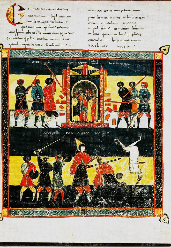 Anticristo derribando Jerusalén. Ap. XI, 7