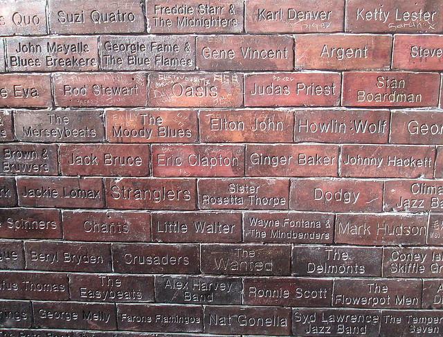 Commemorative Bricks Oppsite Cavern Club, Liverpool