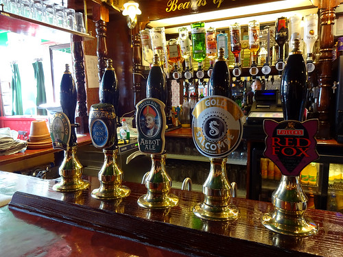 Handpumps at the Red Lion, Bromley, London BR1