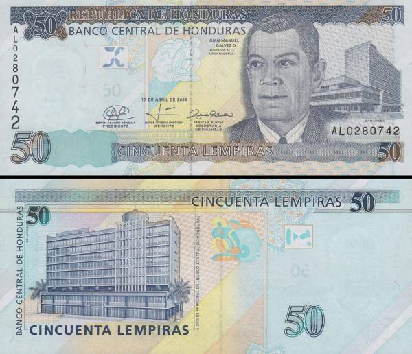 50 Lempiras Honduras 2010, P94b