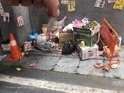 台灣原創 1/12 垃圾場景組 Wastes Scene 限量開賣 微縮達人Hank Cheng 鄭鴻展製作
