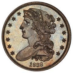 1838 J-73 Pattern Half Dollar obverse